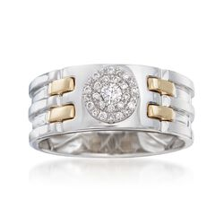 Men's .25 ct. t.w. Diamond Ring in 14kt Two-Tone Gold, , default
