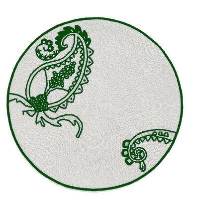 Joanna Buchanan Green Paisley Placemat, , default