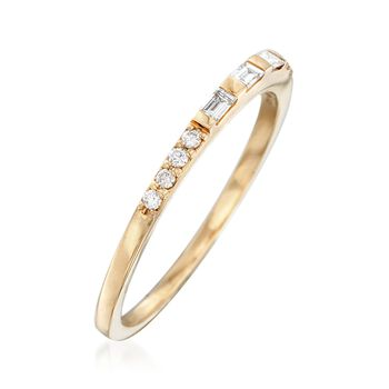 .16 ct. t.w. Baguette and Round Diamond Ring in 14kt Yellow Gold, , default