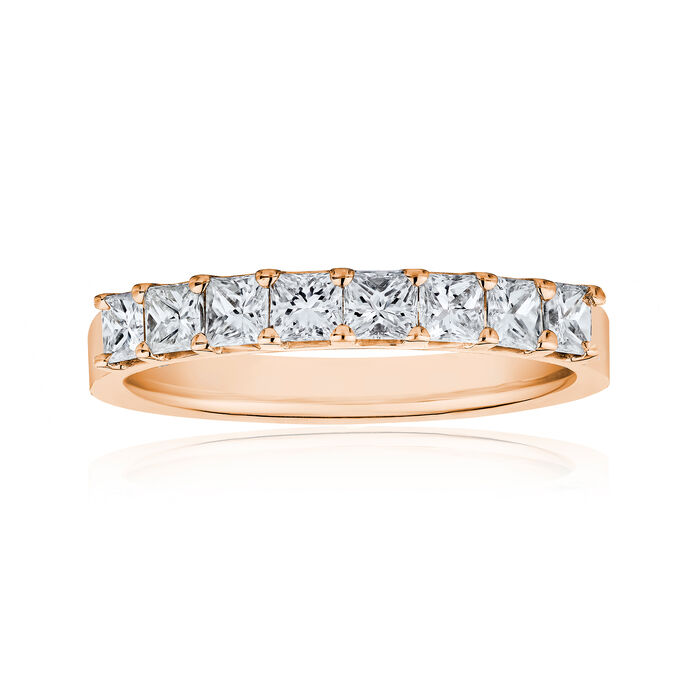 1.20 ct. t.w. Princess-Cut Diamond Ring in 14kt Rose Gold