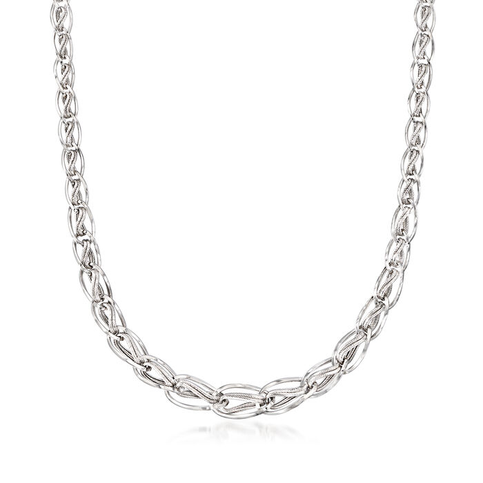 Sterling Silver Graduated Multi-Link Necklace