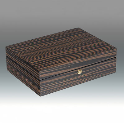 Tiger Ebony Wood Jewelry Box