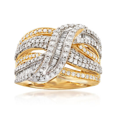 1.50 ct. t.w. Baguette and Round Diamond Ring in 14kt Two-Tone Gold, , default