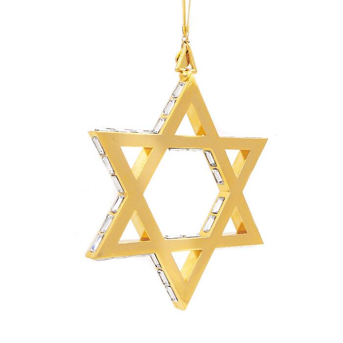 Crystamas Swarovski Crystal 24kt Gold-Plated Star of David Ornament