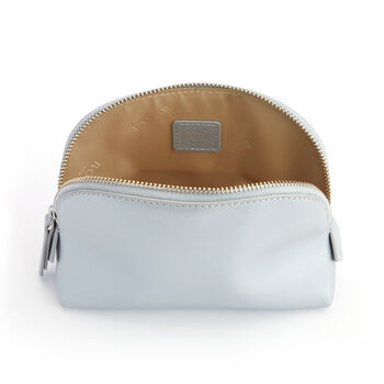 Royce Silver Leather Cosmetic Case
