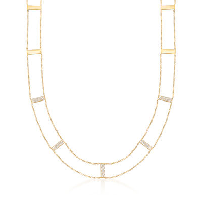 .43 ct. t.w. Diamond Bar Station Necklace in 14kt Yellow Gold, , default