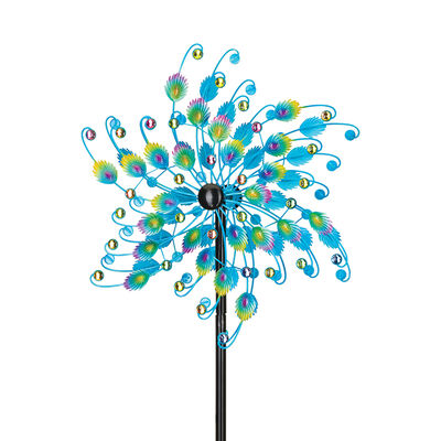 "Regal ""Peacock"" Outdoor Decorative Garden Wind Spinner, , default"