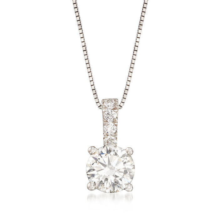 1.05 ct. t.w. Diamond Pendant Necklace in 14kt White Gold