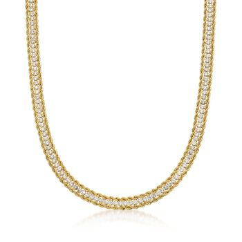 5.50 ct. t.w. CZ Rope Necklace in 14kt Yellow Gold, , default