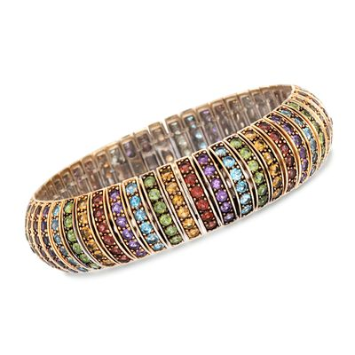 20.30 ct. t.w. Multi-Stone Bracelet in 14kt Gold Over Sterling, , default
