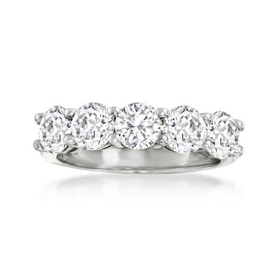 2.50 ct. t.w. Diamond Five-Stone Ring in 14kt White Gold