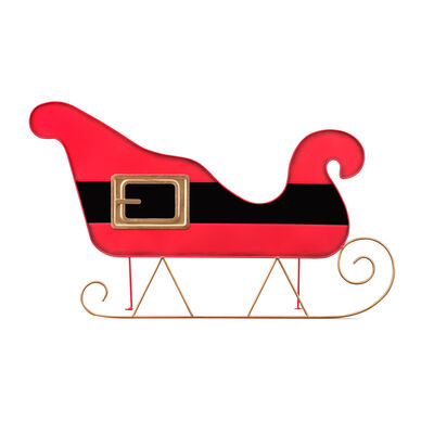 Mr. Christmas Oversized Indoor/Outdoor Metal Sleigh Sign