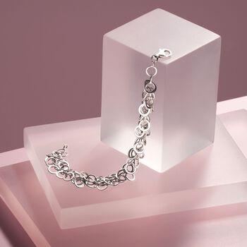 Sterling Silver Multi-Circle Link Bracelet, , default