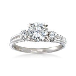 C. 2000 Vintage .90 ct. t.w. Diamond Ring in Platinum. Size 4, , default