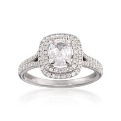 Henri Daussi 1.68 ct. t.w. Certified Diamond Engagement Ring in 14kt White Gold, , default