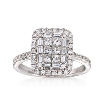 Gregg Ruth 1.30 ct. t.w. Diamond Ring in 18kt White Gold, , default