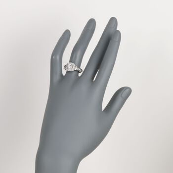 1.45 ct. t.w. Diamond Halo Engagement Ring in 14kt White Gold, , default