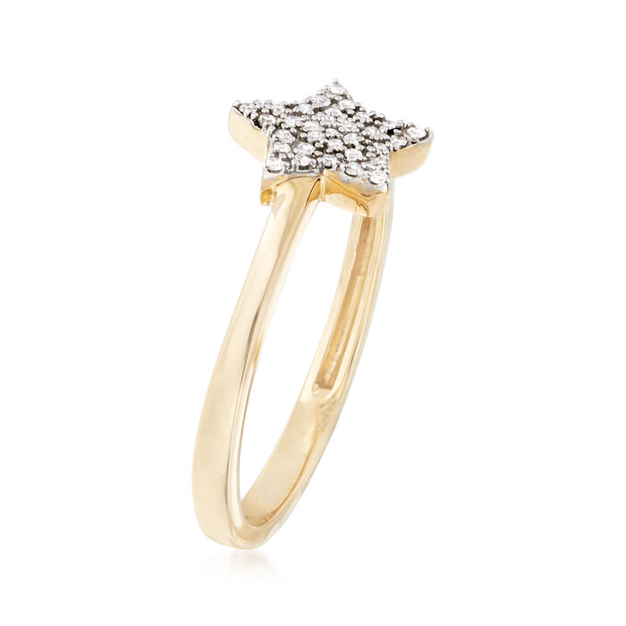 .10 ct. t.w. Diamond Star Ring in 14kt Yellow Gold