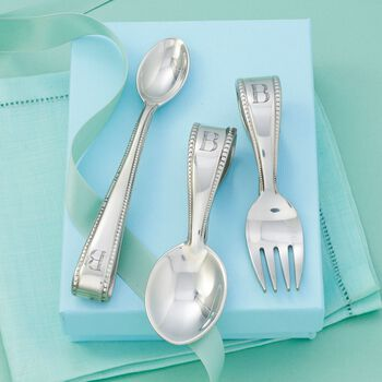 Reed & Barton Pewter Personalized Baby Flatware, , default