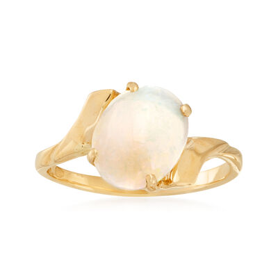 C. 1980 Vintage Opal Ring in 14kt Yellow Gold, , default