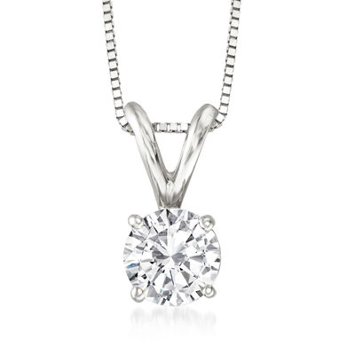 .75 Carat Diamond Pendant Necklace in 14kt White Gold