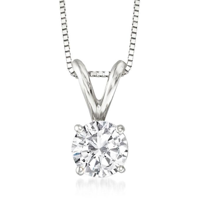 .75 Carat Diamond Pendant Necklace in 14kt White Gold
