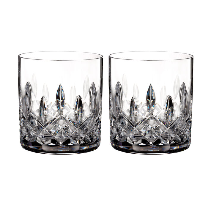 """Waterford Crystal """"Connoisseur"""" Set of 2 Lismore Straight-Sided Tumbler Glasses"""