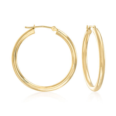 2.5mm 14kt Yellow Gold Hoop Earrings