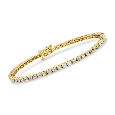 3.00 ct. t.w. Diamond Tennis Bracelet in 14kt Yellow Gold