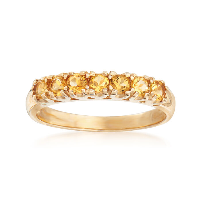 C. 1990 Vintage .55 ct. t.w. Citrine Ring in 10kt Yellow Gold. Size 6.5, , default