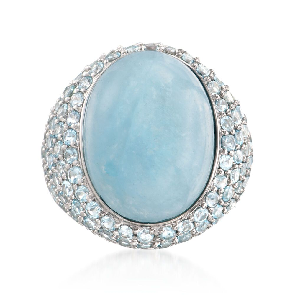 85540cce8 Milky Aquamarine and 4.40 ct. t.w. Sky Blue Topaz Ring in Sterling ...