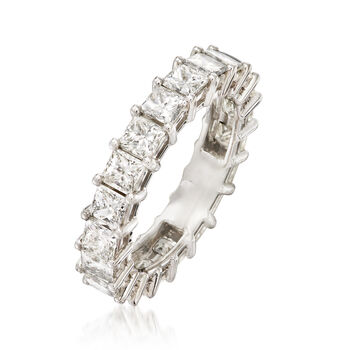 4.00 ct. t.w. Princess-Cut Diamond Eternity Band in Platinum. Size 6