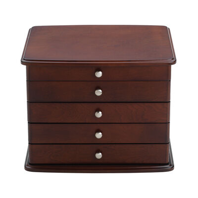 "Reed & Barton ""Sophia"" Mahogany Jewelry Chest, , default"