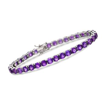 15.00 ct. t.w. Amethyst Bracelet in Sterling Silver, , default