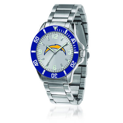 Men's 46mm NFL Los Angeles Chargers Stainless Steel Key Watch, , default
