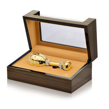 Crystamas Swarovski Crystal 24kt Gold-Plated Baby Rattle