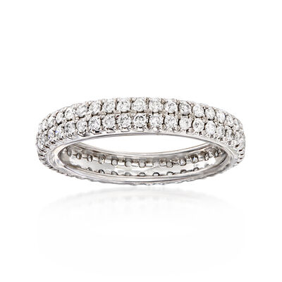 1.00 ct. t.w. Diamond Double-Row Eternity Band in Platinum, , default
