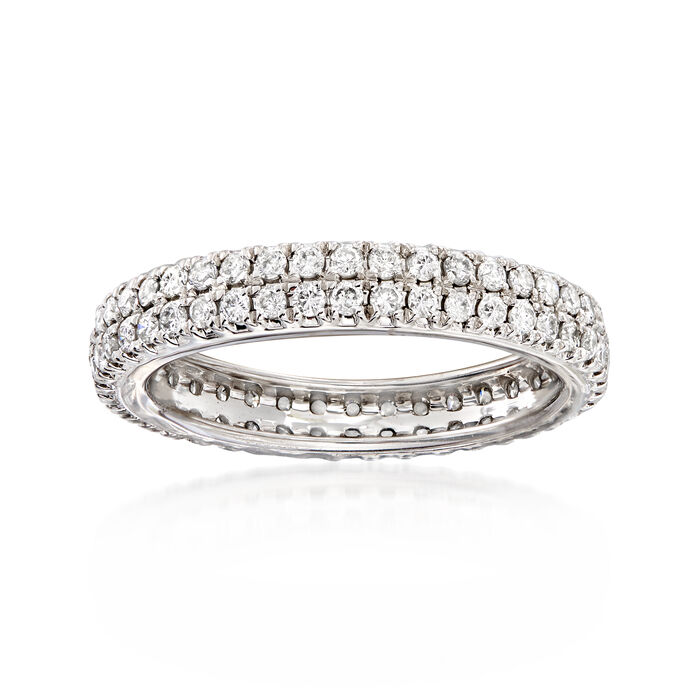 1.00 ct. t.w. Diamond Double-Row Eternity Band in Platinum