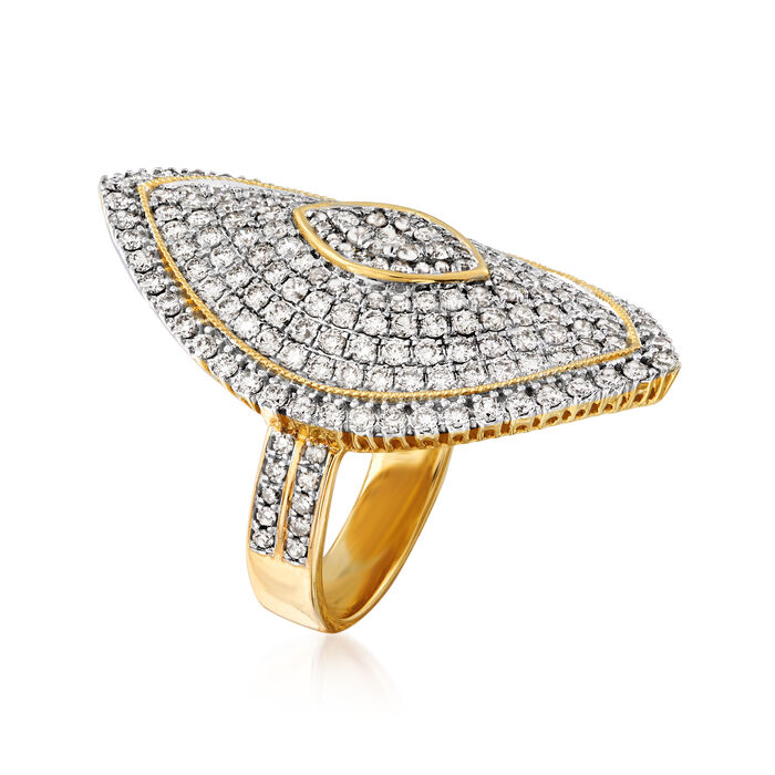 2.50 ct. t.w. Diamond Marquise-Shaped Ring in 14kt Yellow Gold