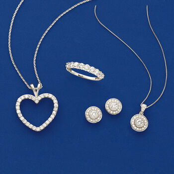 1.00 ct. t.w. Diamond Heart Pendant Necklace in Platinum