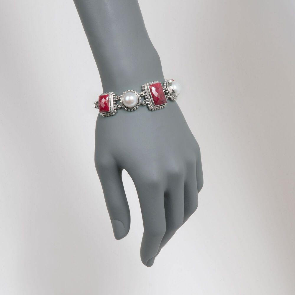 t.w. Ruby Bracelet in Sterling Silver.