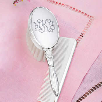 Empire Child's Sterling Silver Personalized Brush and Comb Set