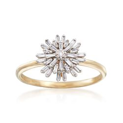 .22 ct. t.w. Diamond Starburst Ring in 14kt Yellow Gold, , default