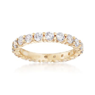 1.80 ct. t.w. CZ Eternity Band in 14kt Yellow Gold
