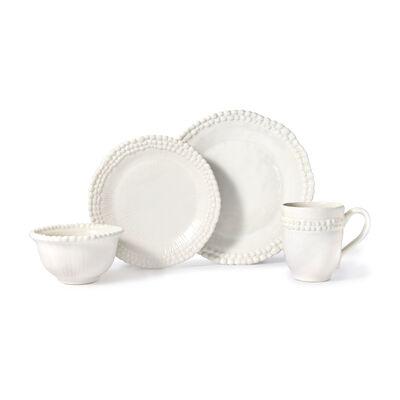 """Euro Ceramica """"Sarar"""" 16-pc. Service for 4 White Dinnerware Set, , default"""