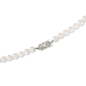 Mikimoto 9x7mm A1 Akoya Pearl Necklace with 18kt White Gold. 18""