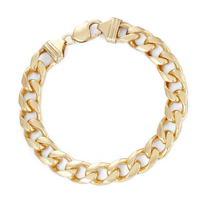 Italian Men's 18kt Gold Over Sterling Curb-Link Bracelet