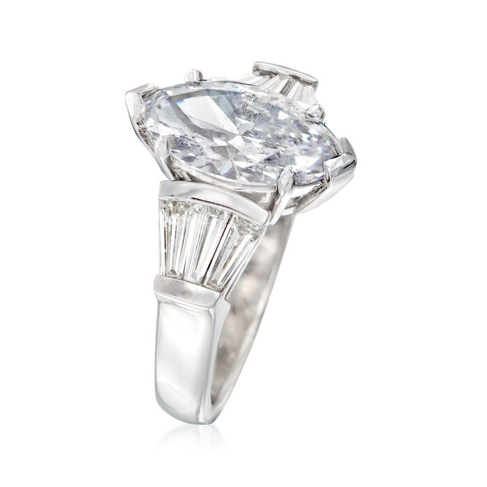 Majestic Collection 3.93 ct. t.w. Diamond Ring in 18kt White Gold