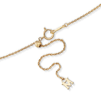 Mikimoto 8mm 'A+' Akoya Pearl Bow Pendant Necklace with Diamond Accents in 18kt Yellow Gold