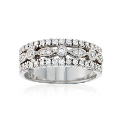 Simon G. .45 ct. t.w. Diamond Band Ring in 18kt White Gold, , default